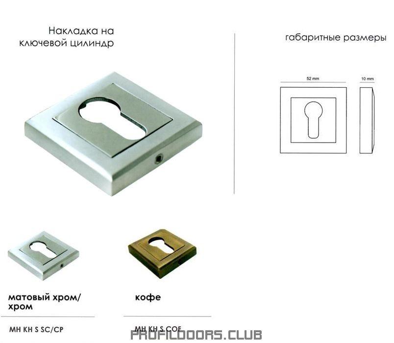 Накладка для ключевого цилиндра квадратная Morelli