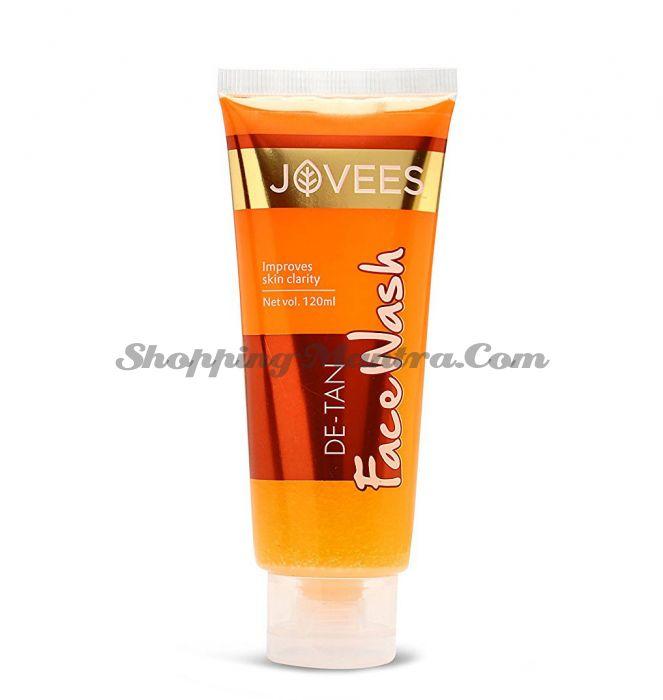 Отбеливающий гель для умывания против загара Джовис   Jovees De-Tan Face Wash