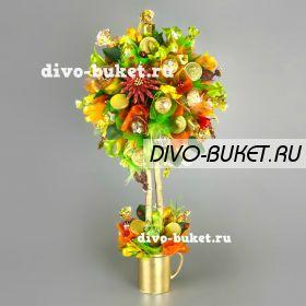 """Дерево из конфет №684 """"Бархатный сезон"""""""