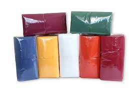 Салфетки  24х24 см /интенсивный цвет/ (400 шт.)