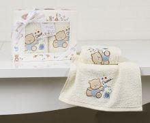 "Комплект махровых салфеток  для детей ""KARNA""  BAMBINO 30*50 - 2шт.  Арт.2135-4"
