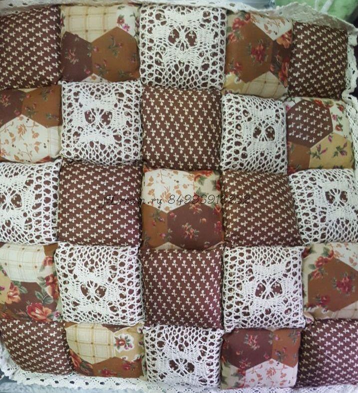 Сидушка на стул светло коричневая