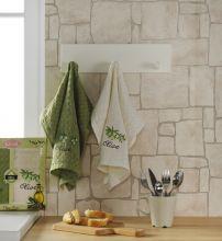 Комплект вафельных полотенец  ''LAMA''  ФРУКТЫ   45x65 - 2 шт.  Арт.1729-1