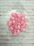 подвеска-декор  ДЕТСКАЯ НОЖКА размер 20*17 мм  материал пластик цвет РОЗОВЫЙ