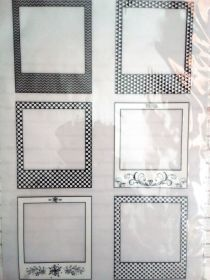 калька декоративная  РАМКИ ПОЛАРОИД  размер 21*29,7 см плотность 90