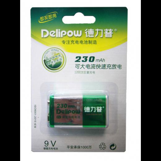 Аккумулятор АКК.Delipow 6F22 (230 mAh,9V)
