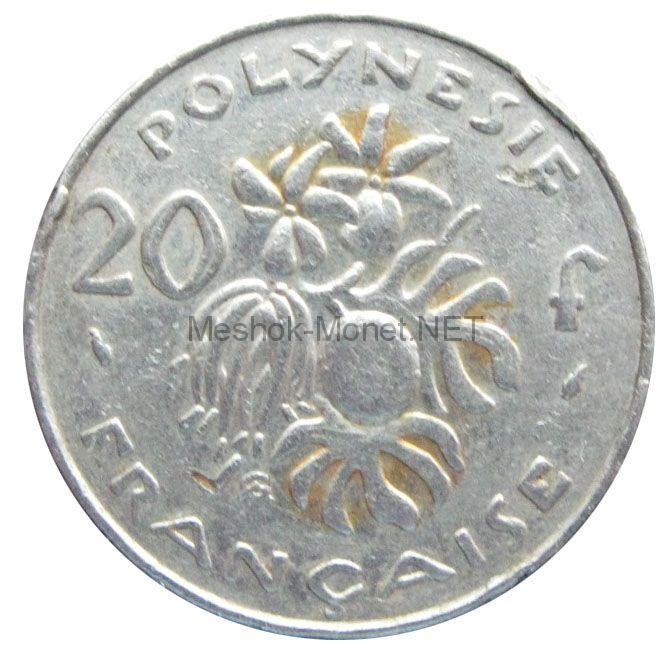 Полинезия 20 франков 1988 г.