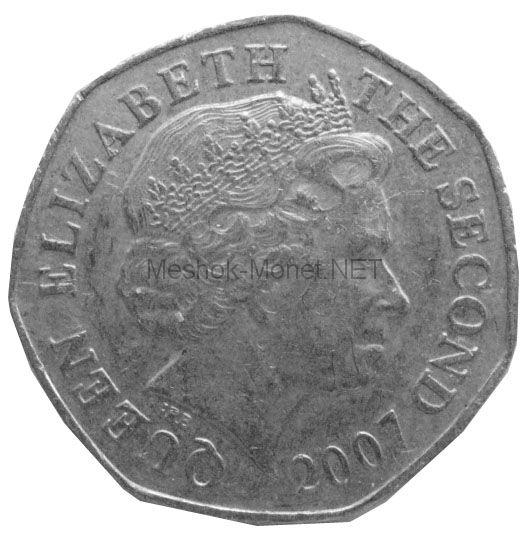 Остров Джерси 20 пенсов 2007 г.
