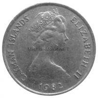 Каймановы острова 10 центов 1982 г.