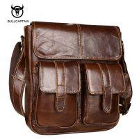 Мужская кожаная сумка Bullcaptain