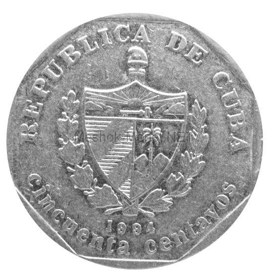 Куба 50 сентаво 1994 г.