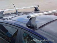 Багажник на крышу Kia Ceed, hatchback, Атлант, прямоугольные дуги