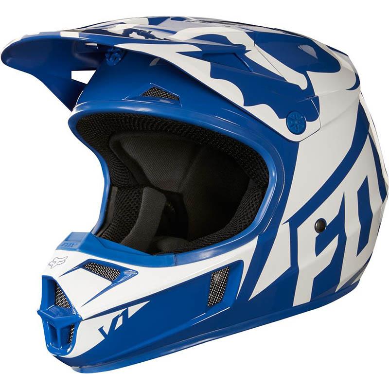 Fox - 2018 V1 Race Youth Helmet Blue шлем подростковый, синий