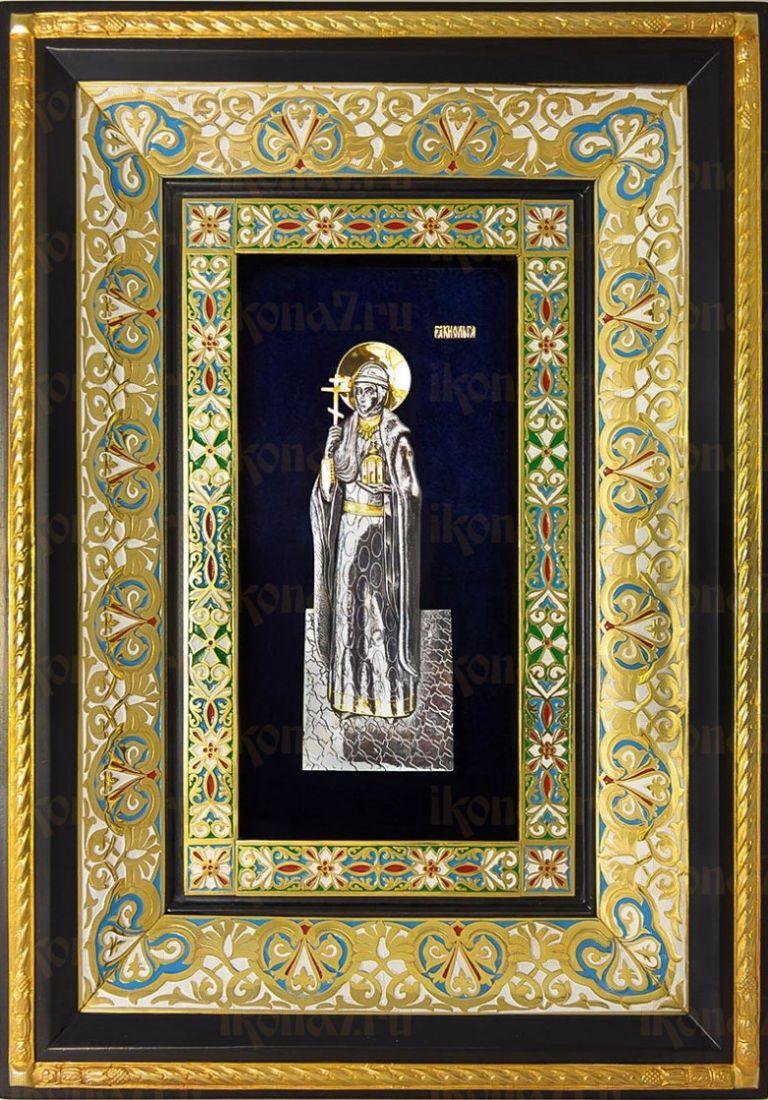 Ольга, княгиня (29х40), серебро