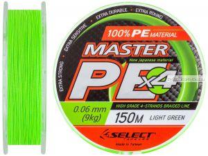 Шнур Select Master PE 150 м / цвет: салатовый