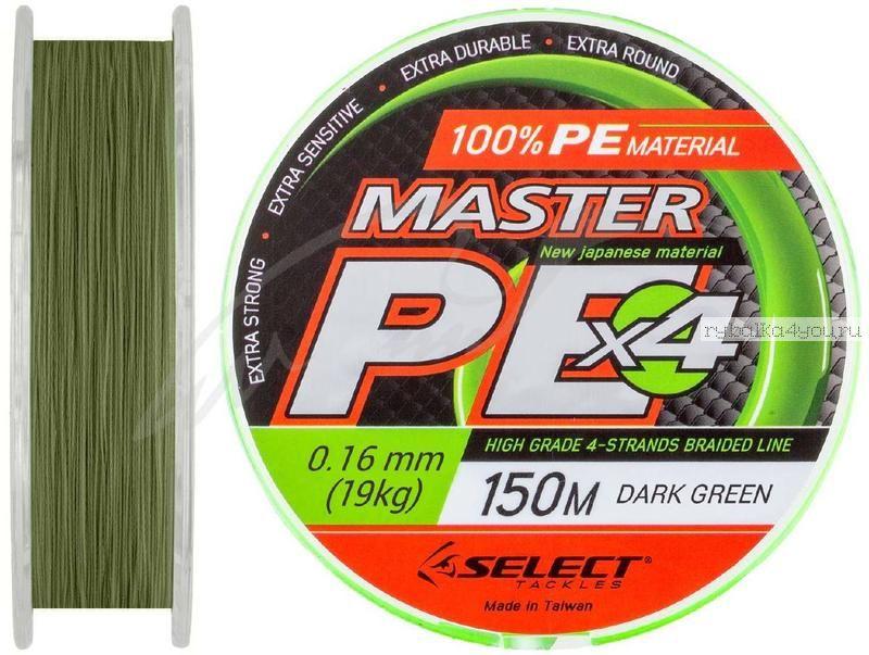 Купить Шнур Select Master PE 150 м / цвет: темно-зеленый