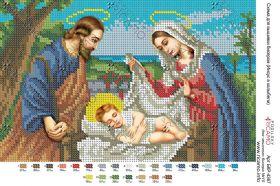 А4Р_072. Иисус В Колыбели А4 (набор 750 рублей) Virena