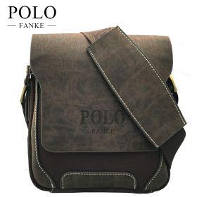 Мужская кожаная сумка POLO