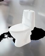 Унитаз напольный, с сидением Duroplast, 3/6 л.