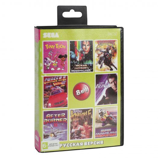 Sega картридж 8в1  (BVAG-22)  CHASE HQ 2/JAMES BOUND/BARE KNUCKLE+..