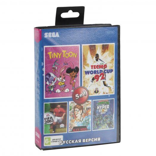 Sega картридж 5в1 (SK-5002)  FIFA 2003/NINJA TUR/TINY TOON/ALEX KIDD+..