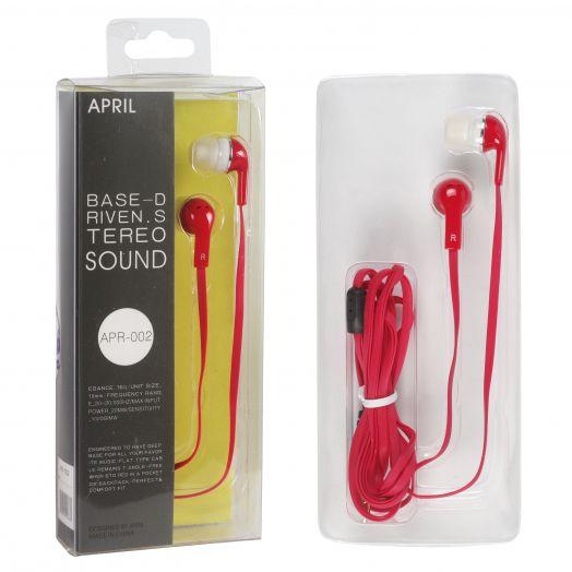 Наушники вакуумные April APR-002 (Красный)