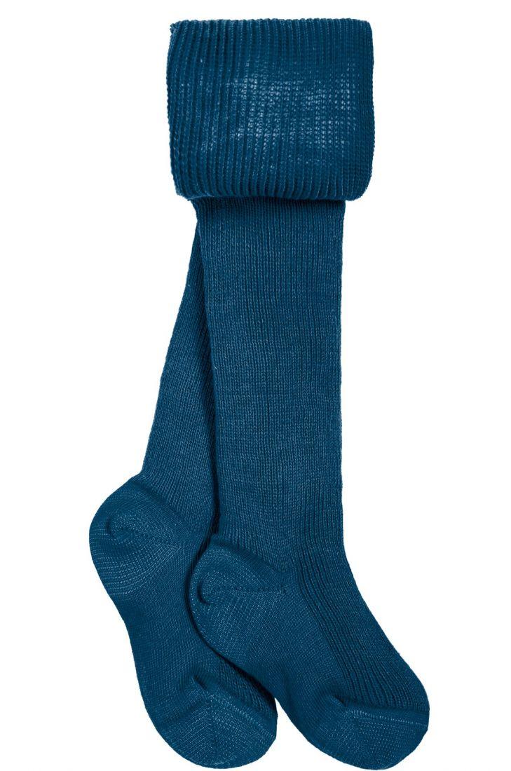 Колготки хлопковые темно-серые с синим оттенком