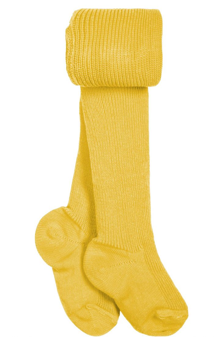 Колготки детские желтые из 100% хлопка