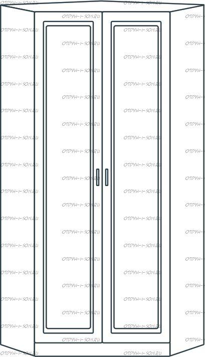 Шкаф угловой 2-дверный Ждана разносторонний мод.52