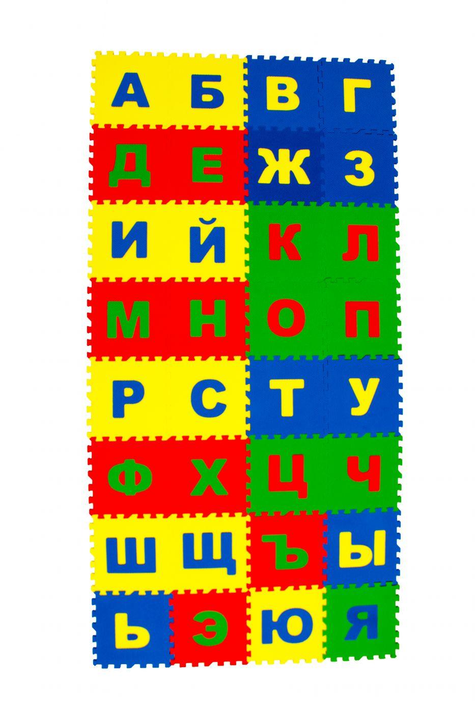 Коврик игровой пазл детский «Русский Алфавит»