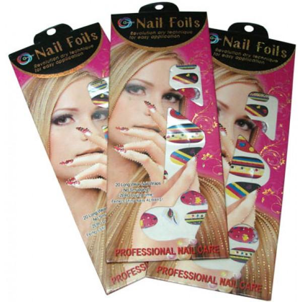 Наклейки для ногтей Nail Foils (К)