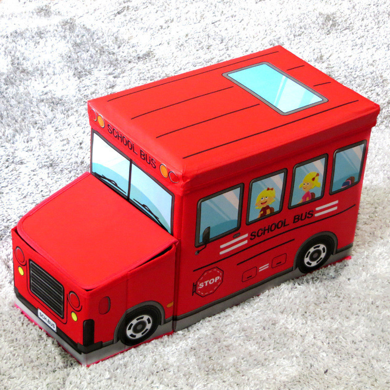 Короб для хранения игрушек Автобус, 2 отделения (39х25х31 см)