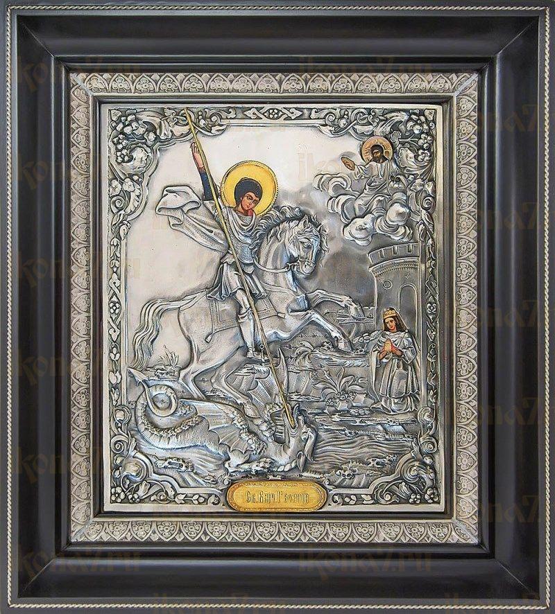 Георгий Победоносец (35х39), серебро