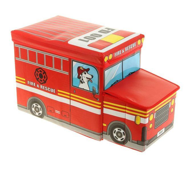 Короб для хранения игрушек Автобус, 2 отделения (55х25×25 см)