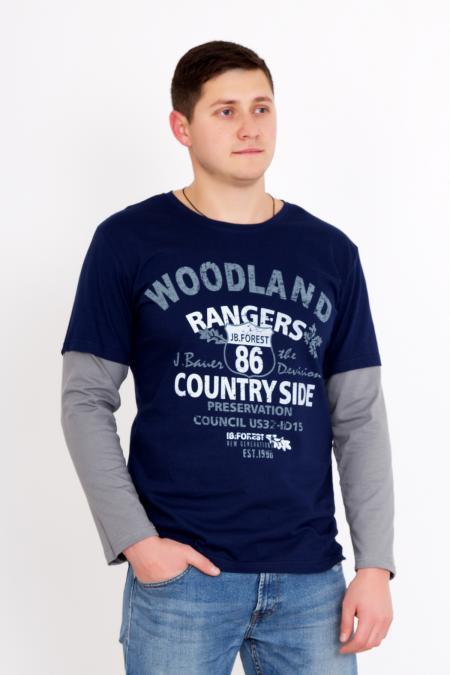 """Мужская футболка """"Венстон"""" с длинным рукавом"""