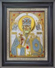 Николай Чудотворец (34х42), серебро