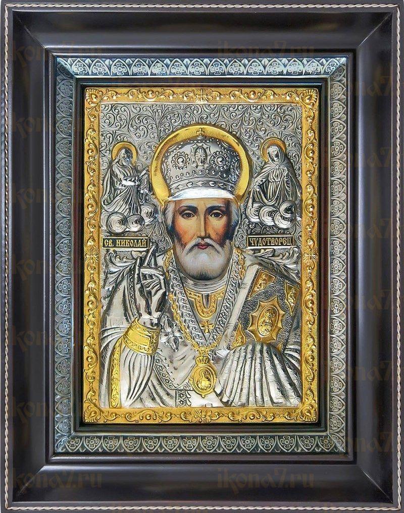 Николай Чудотворец (25х31), серебро