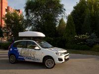 Автомобильный бокс на крышу Avatar EURO, 460 литров, двусторонний белый матовый