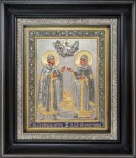 Петр и Феврония Муромские (27х31), серебро