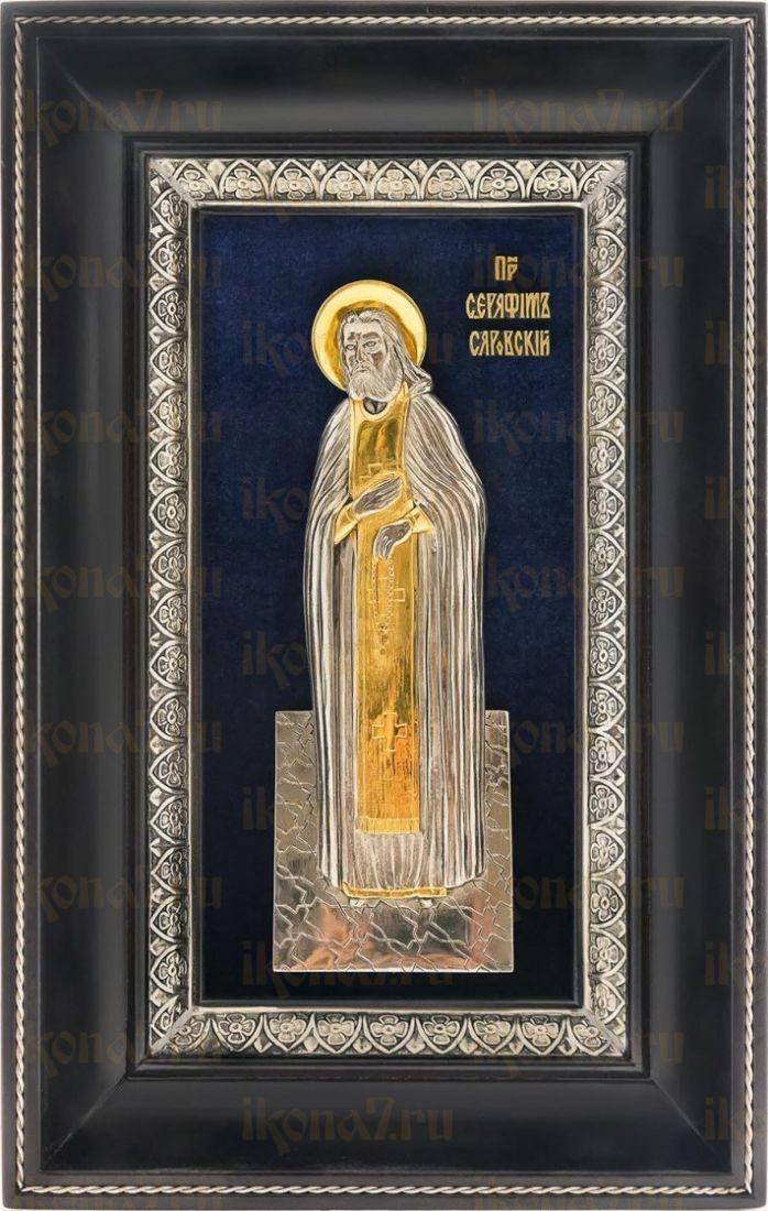 Серафим Саровский (18х29), серебро