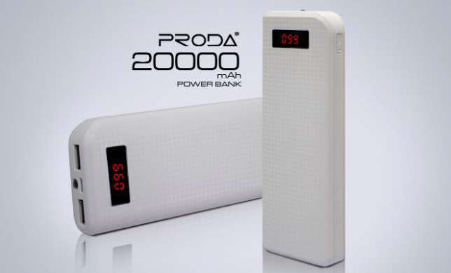 PowerBank- (повер банк) Proda carbon 20000 Mah (К)