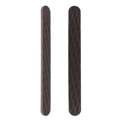 Пилка наждачная для ногтей QF овальная 100 гритт коричневая