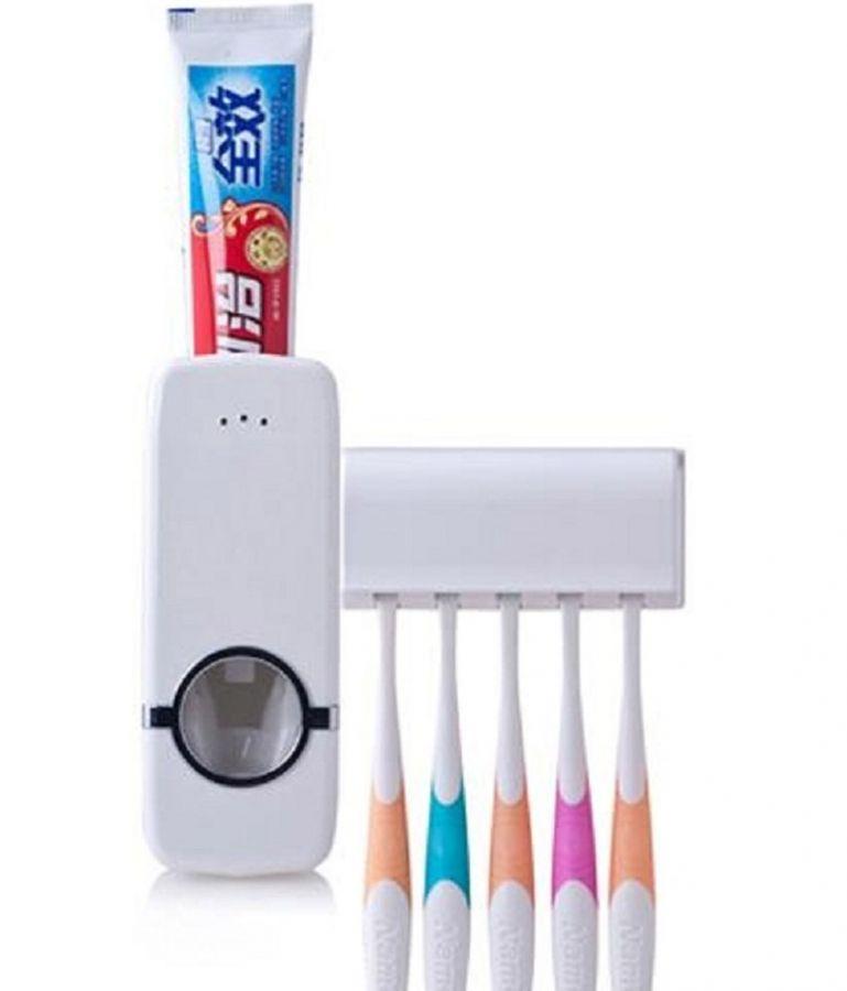 Диспенсер для зубной пасты + держатель (К)