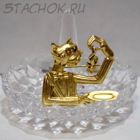 """Брошь """"Кот и мышь"""" (AJC США)"""