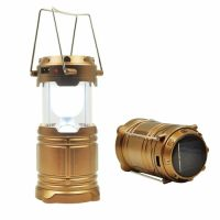Кемпинговый фонарь с солнечной батареей и usb средний (К)