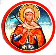 Севастьяна Гераклейская (рукописная икона)