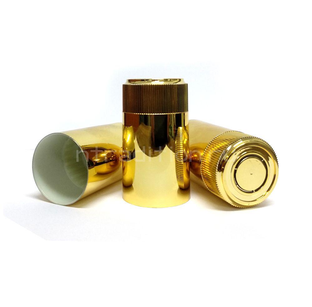 Колпачок с дозатором Гуала - зеркальное золото 59 мм (10 шт.)