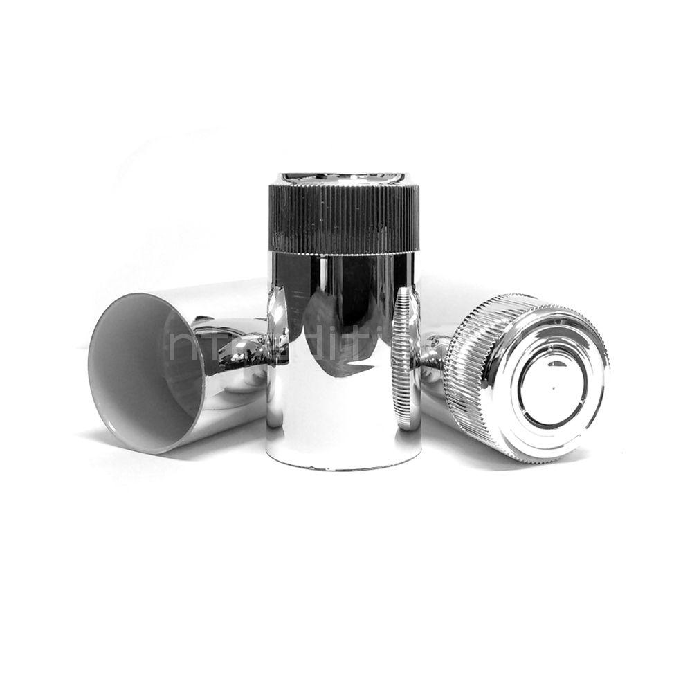 Колпачок с дозатором Гуала - зеркальное серебро 59 мм (10 шт.)