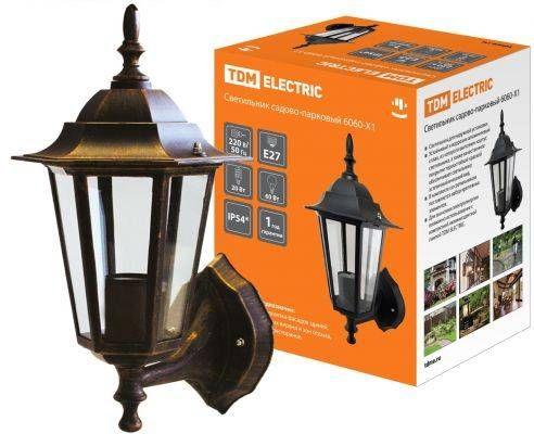 Парковый светильник TDM НБУ 06-60-001 60W бронза