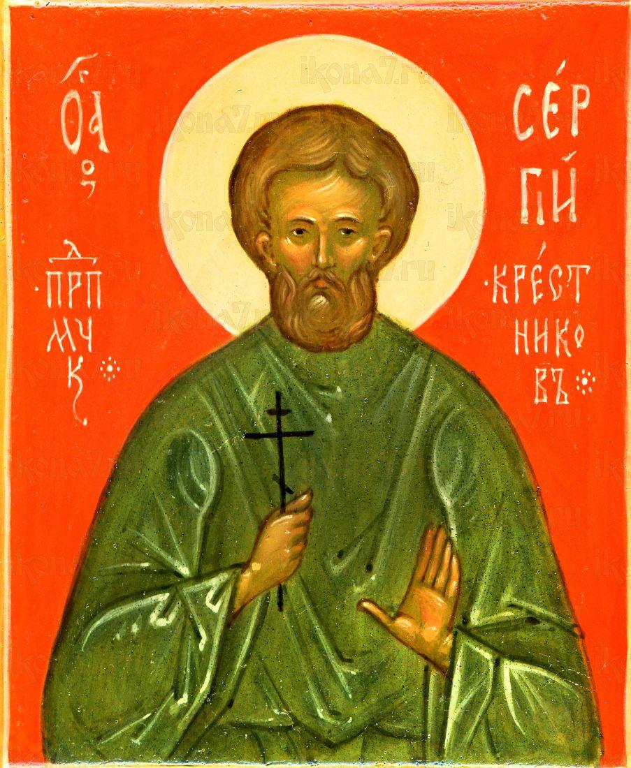 Сергий Крестников (рукописная икона)